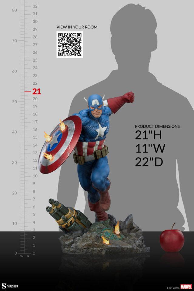 Sideshow Premium Format Captain America Figure Statue 2021
