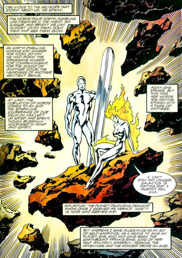 Silver Surfer and Frankie Raye Nova Comic Book Page