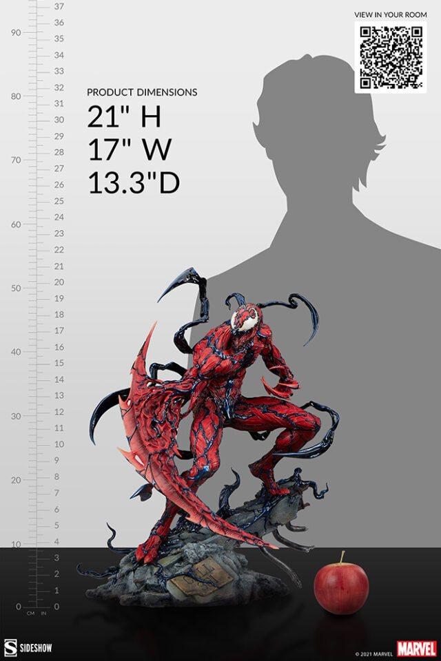 Size Scale Comparison Photo Carnage 2021 Sideshow Collectibles PF Statue
