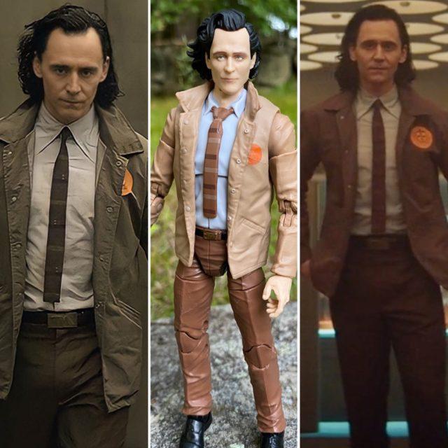 Comparison Disney+ Loki Screenshots and Hasbro Marvel Legends Figure