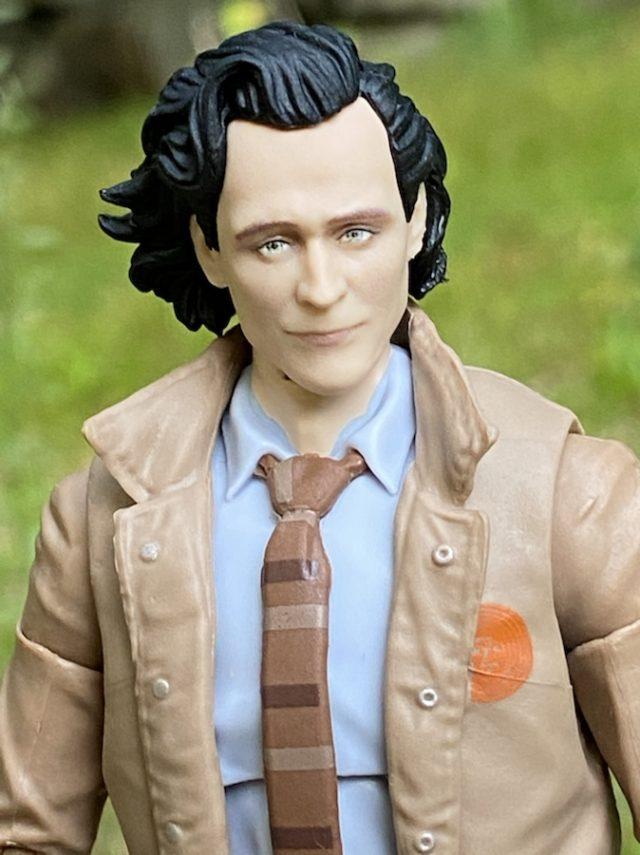 Close-Up of Marvel Legends Loki TV Series Tom Hiddleston Portrait Head Sculpt