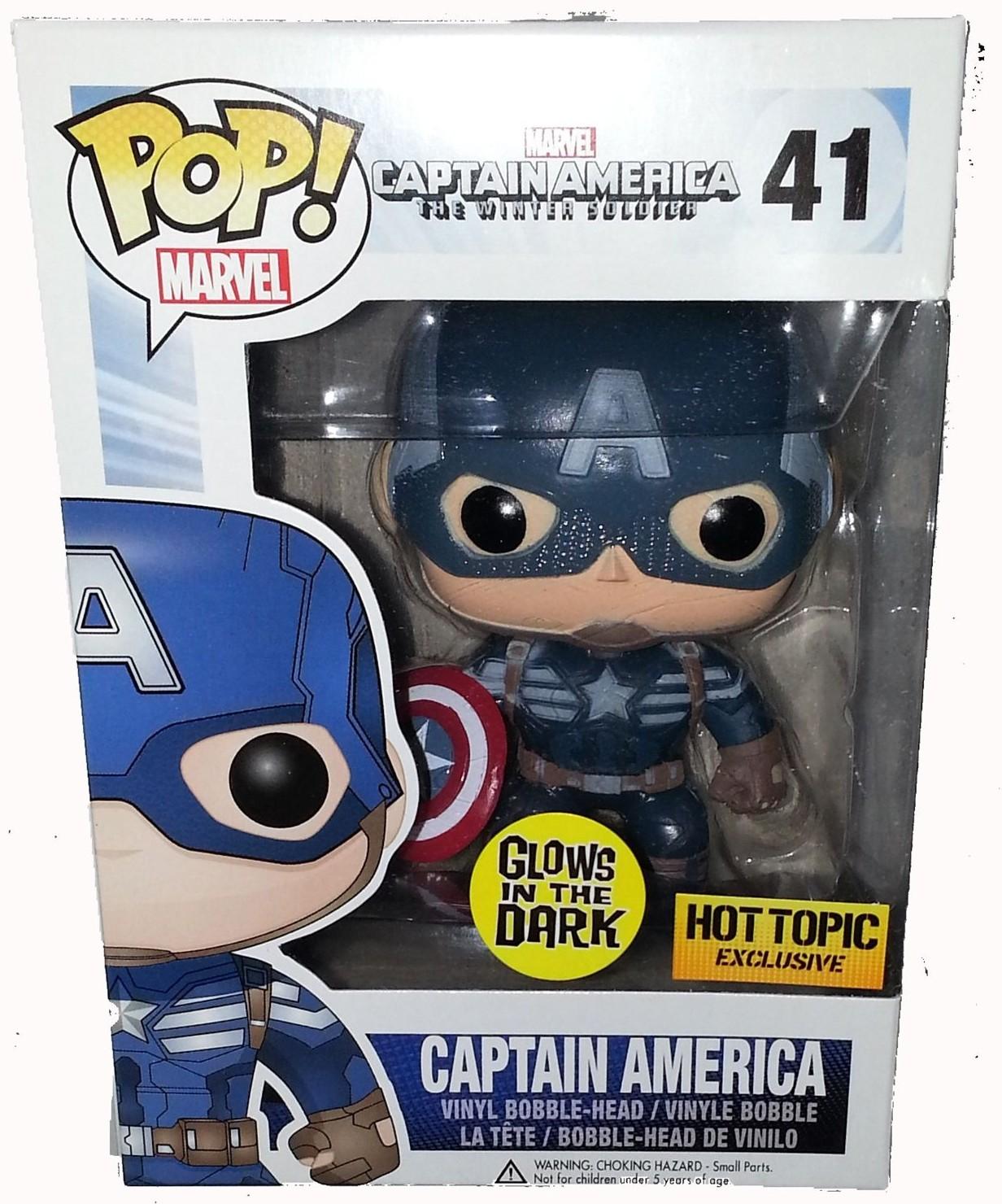 Funko Glow In The Dark Captain America Pop Vinyl Released