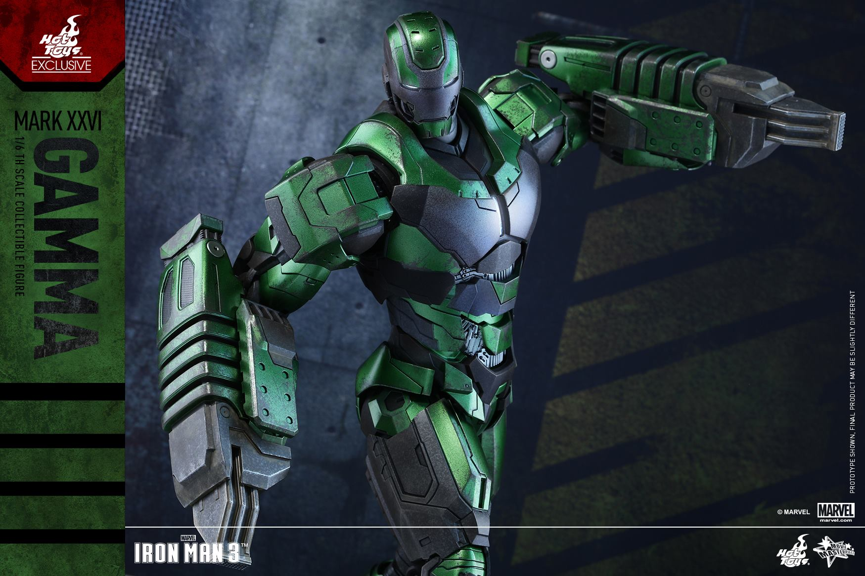 Hot Toys Gamma Iron Man Exclusive Up For Order Marvel Toy News Mark 25 Striker Figure Jackhammers