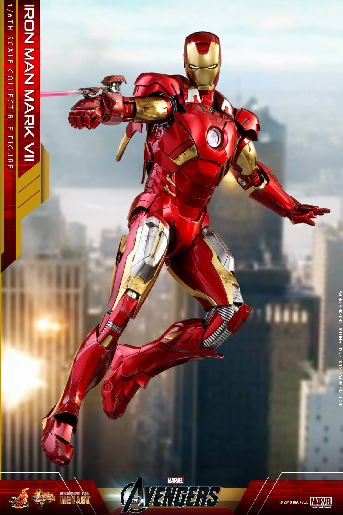 Hot Toys Iron Man Mark Vii Die Cast 1 6 Figure Photos Order Info 7 Mms With Laser