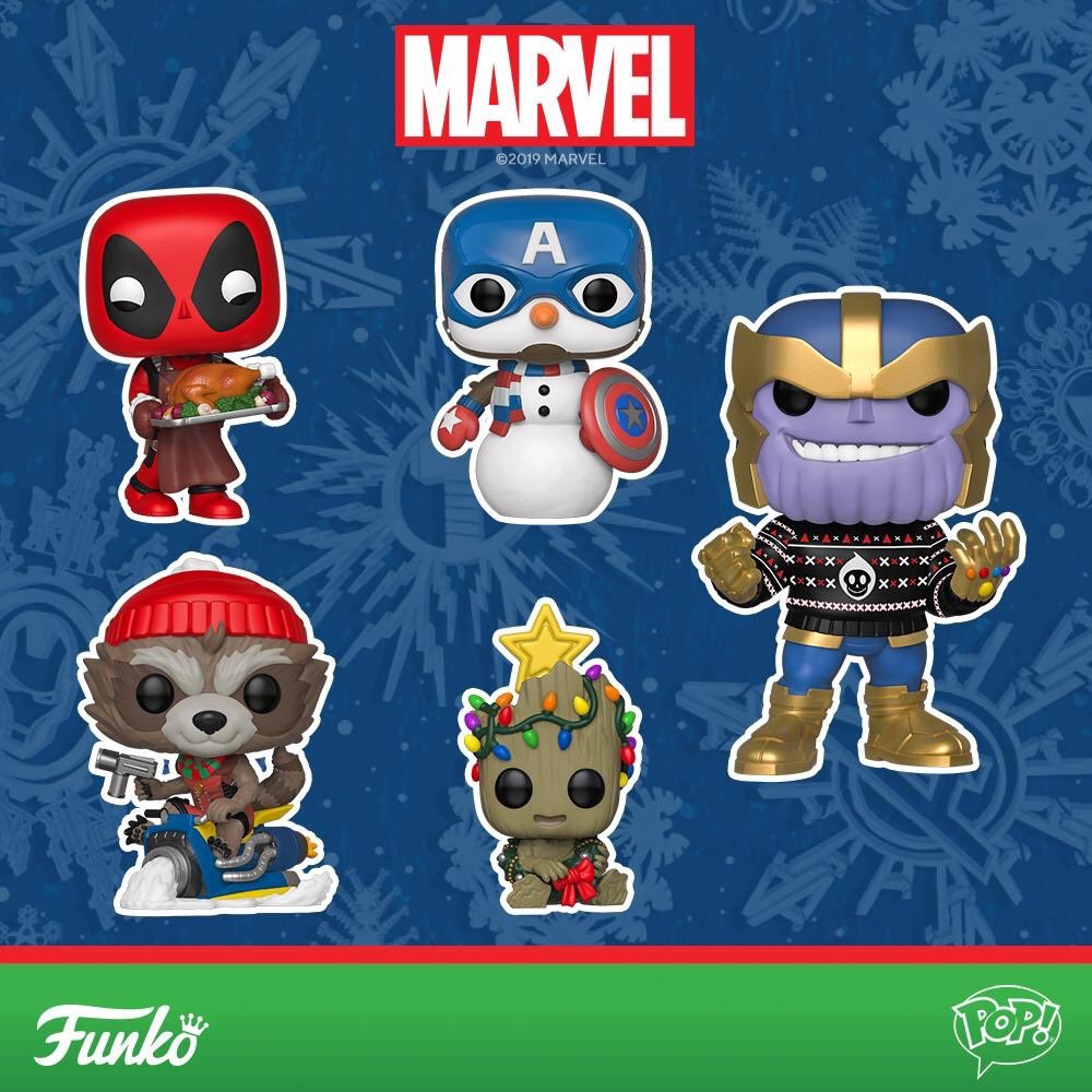 Funko Marvel 2019 Holiday Pop Vinyls Ugly Sweater Thanos