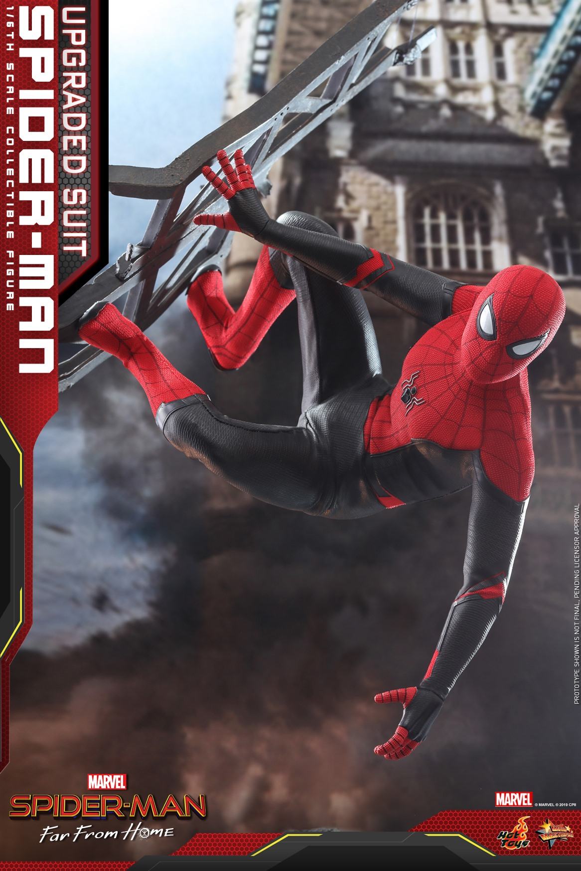 Hot Toys Upgraded Suit Spider Man Far From Home Figure Up