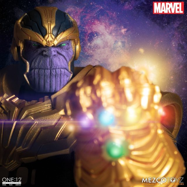Mezco ONE 12 Collective Thanos Figure with Light Up Infinity Gauntlet