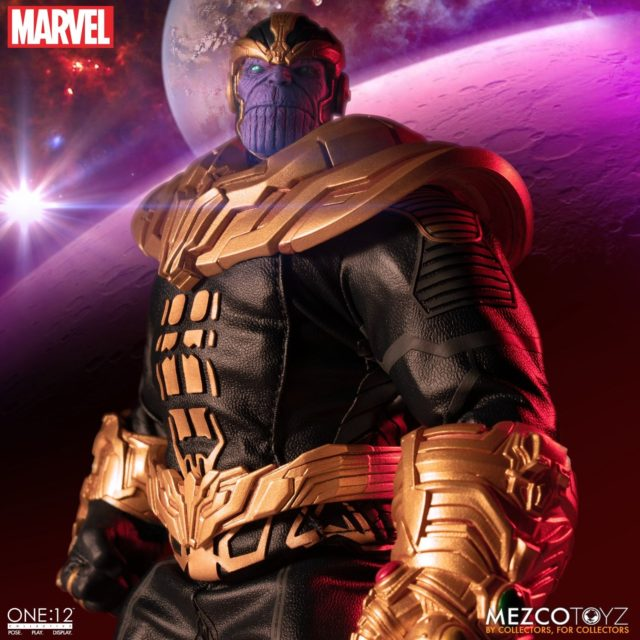 Mezco ONE12 Collective Thanos Figure Scowling