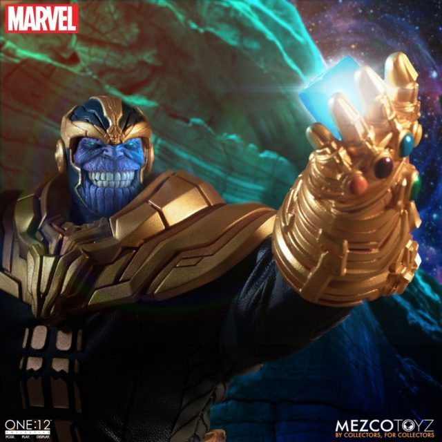 Thanos ONE 12 Collective Figure Holding Cosmic Cube