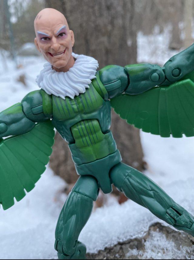 Close-Up of 2020 Marvel Legends Vulture Figure Head Sculpt