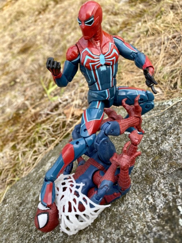 Spider-Man Legends Velocity Suit Figure Review with Doppelganger Spider