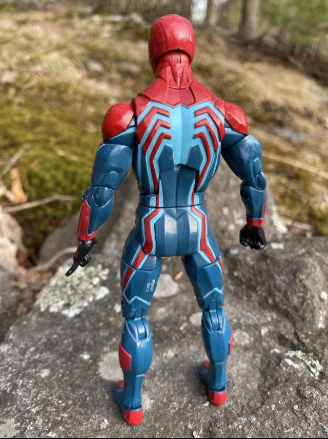 Marvel Legends 2020 Velocity Suit Spider-Man PS4 Figure Back
