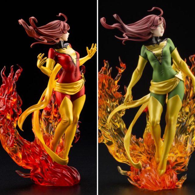 NYCC 2020 Phoenix Bishoujo Comparison with Dark Phoenix Rebirth Koto